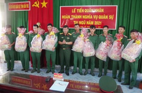 Các địa phương đón quân nhân hoàn thành nghĩa vụ quân sự trở về
