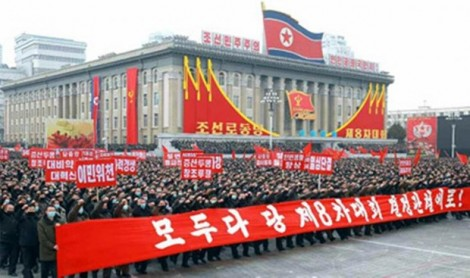 Triều Tiên: Míttinh ủng hộ quyết sách của đảng Lao động Triều Tiên