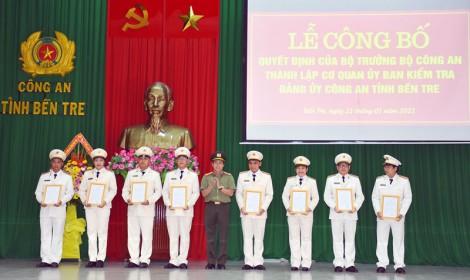 Công bố quyết định thành lập cơ quan Ủy ban Kiểm tra Đảng ủy Công an tỉnh