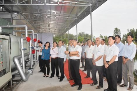 Đưa vào hoạt động hệ thống RO xử lý nước nhiễm mặn tại Nhà máy nước An Hiệp