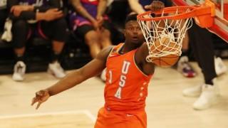 Zion Williamson thể hiện sức mạnh kinh hoàng, dunk hỏng cả rổ NBA