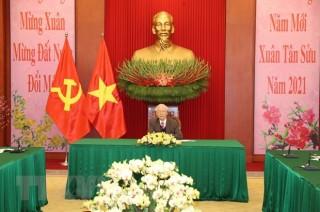Tổng Bí thư, Chủ tịch nước điện đàm Tổng Bí thư, Chủ tịch Trung Quốc