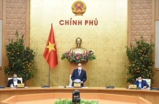 Thủ tướng Nguyễn Xuân Phúc chủ trì họp giao ban về tình hình Tết, phòng chống COVID-19
