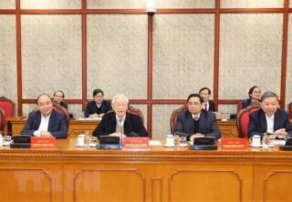 Tổng Bí thư, Chủ tịch nước chủ trì phiên họp đầu tiên của Bộ Chính trị và Ban Bí thư