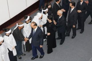 Nhiều đoàn đại biểu đến viếng Lễ tang nguyên Phó thủ tướng Chính phủ Trương Vĩnh Trọng