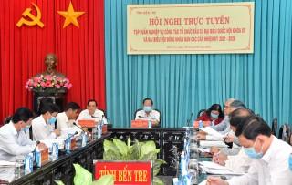 Hội nghị trực tuyến tập huấn nghiệp vụ công tác tổ chức bầu cử