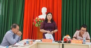Phó bí thư Thường trực Tỉnh ủy Hồ Thị Hoàng Yến làm việc với Huyện ủy Giồng Trôm