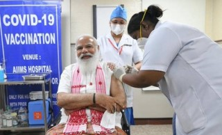 Thủ tướng Ấn Độ Modi tiêm mũi vaccine Covid-19 nội địa đầu tiên