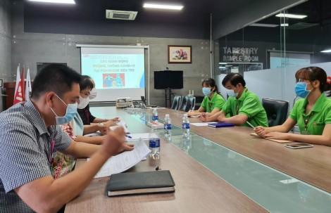 Giám sát công tác phòng chống dịch Covid -19 tại các công ty Khu công nghiệp Giao Long
