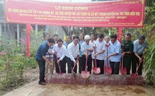 Khởi công xây dựng 6 cầu giao thông nông thôn trên địa bàn huyện Mỏ Cày Nam và Ba Tri