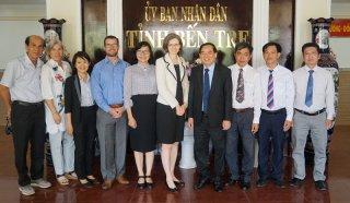 Đoàn công tác Đại sứ quán Canada tại Việt Nam chào xã giao lãnh đạo tỉnh