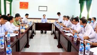 Phó chủ tịch UBND tỉnh làm việc với Chi cục Chăn nuôi và Thú y