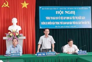 Hội nghị thông tin báo chí về việc quy định giá tiêu thụ nước sạch