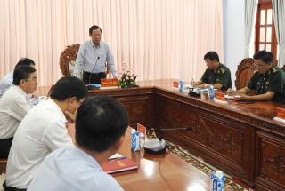 Bí thư Tỉnh ủy Phan Văn Mãi làm việc với Ban Thường vụ Bộ đội Biên phòng tỉnh