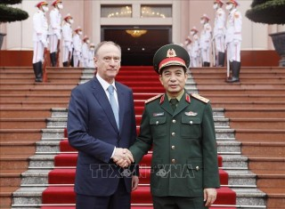 Thượng tướng Phan Văn Giang tiếp Thư ký Hội đồng An ninh Quốc gia Liên bang Nga