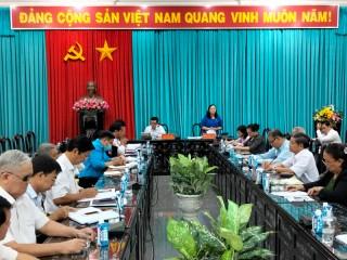 Phó bí thư Thường trực Tỉnh ủy làm việc với các Tổ chức xã hội tỉnh