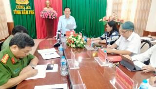 Chủ tịch UBND tỉnh làm việc với Đảng ủy Công an