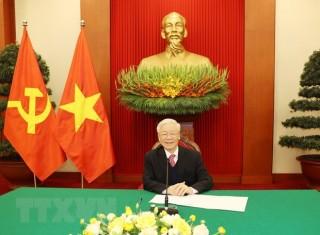 Tổng Bí thư, Chủ tịch nước điện đàm với Thủ tướng Nhật Suga Yoshihide