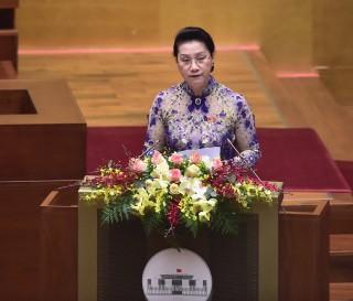 Chủ tịch Quốc hội phát biểu khai mạc kỳ họp 'cầu nối' của Quốc hội