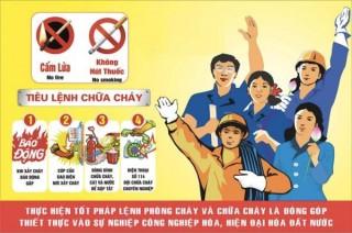 Sáng tác tranh cổ động tuyên truyền về phòng cháy, chữa cháy và cứu nạn, cứu hộ tỉnh năm 2021