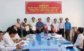 Sở Y tế bổ nhiệm lại 4 công chức, viên chức lãnh đạo quản lý