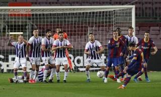 Nhọc nhằn đánh bại Valladolid, Barca chỉ còn kém Atletico 1 điểm