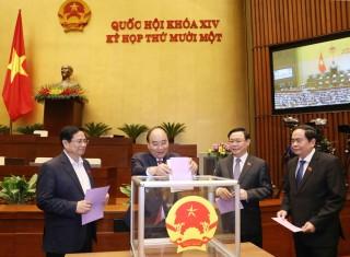 Ngày 7-4-2021, Quốc hội phê chuẩn việc miễn nhiệm một số Phó Thủ tướng, Bộ trưởng