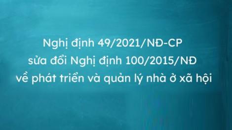Điểm mới của Nghị định số 49/2021/NĐ-CP của Chính phủ