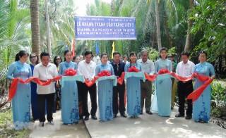 Khánh thành cầu Tráng Việt 7 tại xã An Thới