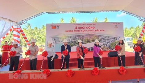 Khởi công xây dựng Trường THCS Châu Hòa
