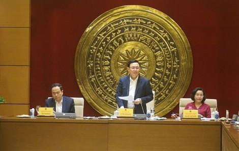 Chủ tịch Quốc hội Vương Đình Huệ làm việc với Ban Công tác đại biểu