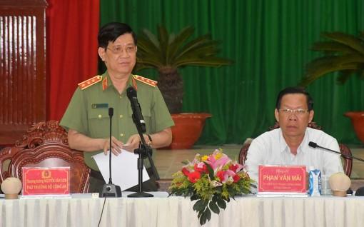 Giao ban công tác công an các tỉnh Tây Nam Bộ tại Bến Tre