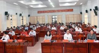 Hội nghị tập huấn những người ứng cử đại biểu HĐND tỉnh, huyện, nhiệm kỳ 2021 - 2026
