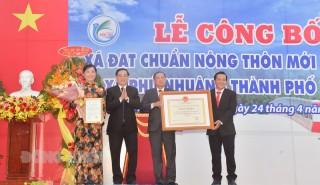 Phú Nhuận đạt chuẩn xã nông thôn mới nâng cao