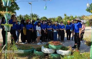 Đoàn trường Cao đẳng Cộng đồng Bình Thuận học hỏi ý tưởng khởi nghiệp tại Bến Tre