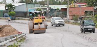 Tiến độ nâng cấp quốc lộ 57 gói thầu 1 đạt trên 93%