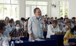 Ứng cử viên đại biểu Quốc hội, HĐND tỉnh tiếp xúc cử tri tại  TP. Bến Tre, Giồng Trôm và Mỏ Cày Bắc