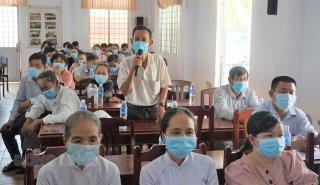 Ứng cử viên đại biểu Quốc hội khóa XV và đại biểu HĐND tỉnh, nhiệm kỳ 2021 - 2026 tiếp xúc cử tri tại Thạnh Phú và TP. Bến Tre