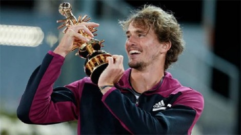 Alexander Zverev lần thứ hai vô địch Madrid Open