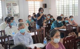 Ứng cử viên đại biểu HĐND tỉnh, nhiệm kỳ 2021 - 2026, tiếp xúc cử tri tại huyện Mỏ Cày Nam, Thạnh Phú