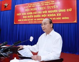 Chủ tịch nước tiếp xúc cử tri tại TPHCM