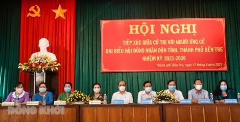 Ứng cử viên đại biểu HĐND tỉnh tiếp xúc cử tri