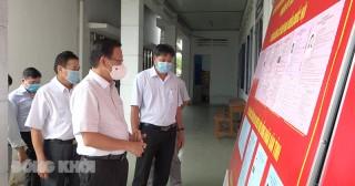 Bí thư Tỉnh ủy kiểm tra công tác chuẩn bị bầu cử tại huyện Chợ Lách