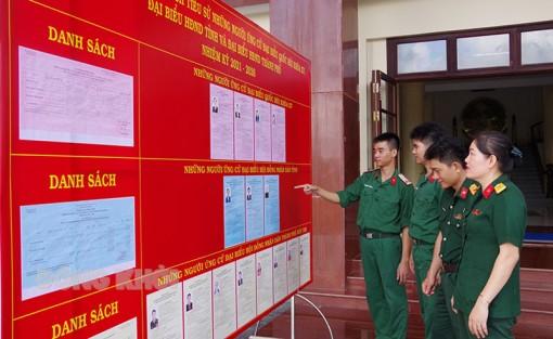 Công tác bầu cử đại biểu Quốc hội khóa XV và đại biểu HĐND các cấp, nhiệm kỳ 2021 - 2026 trong lực lượng vũ trang tỉnh