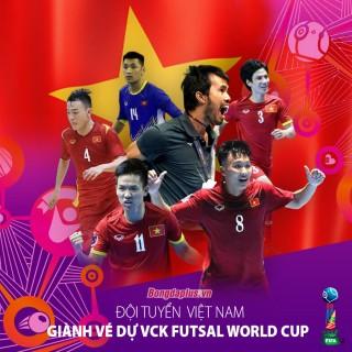 ĐT Việt Nam hiên ngang giành vé dự VCK futsal World Cup 2021