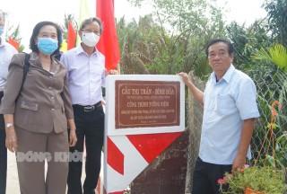 Khánh thành cầu liên xã Bình Hòa - Thị trấn Giồng Trôm