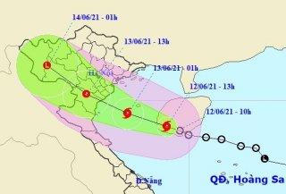 Bão số 2 ảnh hưởng trực tiếp đến khu vực đồng bằng Bắc Bộ và Bắc Trung Bộ
