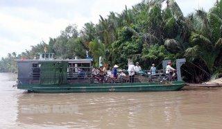 Tạm dừng hoạt động các bến phà, bến khách ngang sông đến huyện Cai Lậy, tỉnh Tiền Giang để phòng, chống dịch Covid-19