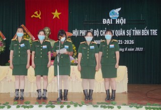 Ðại hội Phụ nữ Bộ Chỉ huy Quân sự tỉnh nhiệm kỳ 2021- 2026