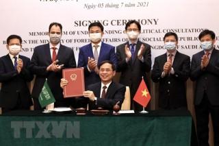 Bộ Ngoại giao Việt Nam - Arab Saudi ký Bản ghi nhớ tham vấn chính trị
